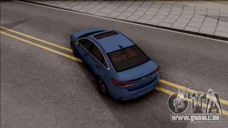 Hyundai Sonata 2018 pour GTA San Andreas vue arrière