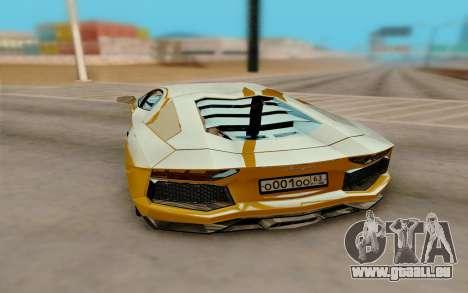 Lamborghini Aventador für GTA San Andreas rechten Ansicht