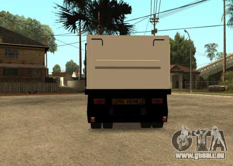 Realistic Arctic2 Trailer pour GTA San Andreas sur la vue arrière gauche