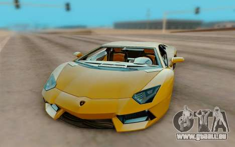 Lamborghini Aventador für GTA San Andreas Rückansicht