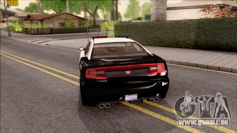 Dodge Charger Police Cruiser Lowest Poly pour GTA San Andreas sur la vue arrière gauche
