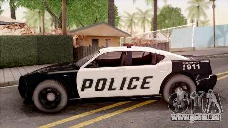 Dodge Charger Police Cruiser Lowest Poly pour GTA San Andreas laissé vue