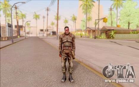 Zombie Degtyarev de S. T. A. L. K. E. R. pour GTA San Andreas deuxième écran