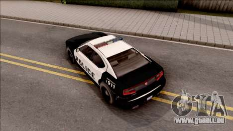 Dodge Charger Police Cruiser Lowest Poly pour GTA San Andreas vue arrière
