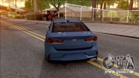 Hyundai Sonata 2018 pour GTA San Andreas sur la vue arrière gauche