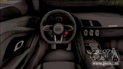 Audi R8 V10 Vorsteiner 2017 pour GTA San Andreas vue intérieure
