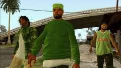 Grove Street Family HQ Skins für GTA San Andreas