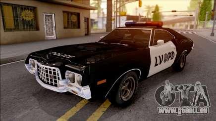 Ford Gran Torino Police LVPD 1972 v3 pour GTA San Andreas