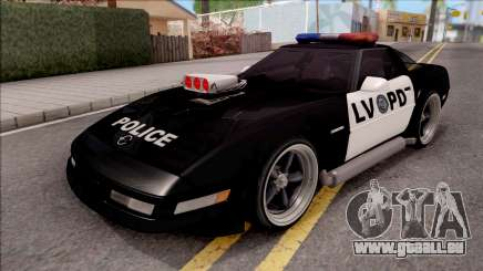 Chevrolet Corvette C4 Police LVPD 1996 v2 pour GTA San Andreas