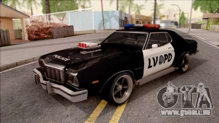 Ford Gran Torino Police LVPD 1975 v3 für GTA San Andreas