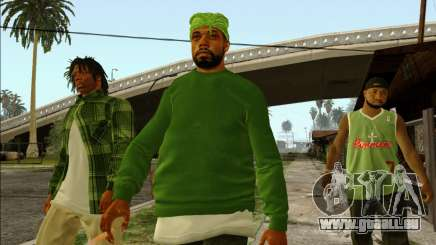 Grove Street Family HQ Skins pour GTA San Andreas