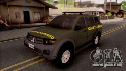 Mitsubishi Pajero Army Police of Brazil pour GTA San Andreas