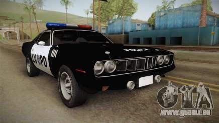 Plymouth Hemi Cuda 426 Police LVPD 1971 für GTA San Andreas
