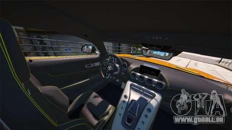 GTA 5 Mercedes-Benz AMG GT S 2016 arrière vue latérale gauche