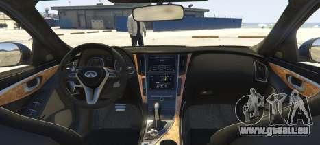 GTA 5 Infiniti Q70 Final arrière vue latérale gauche