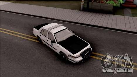 Ford Crown Victoria 2009 Des Moines PD pour GTA San Andreas vue de droite