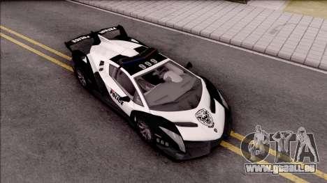 Lamborghini Veneno Police San Fierro für GTA San Andreas rechten Ansicht