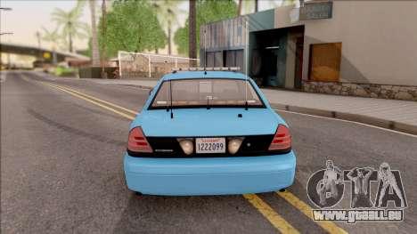 Ford Crown Victoria 2010 Iowa DOT MVE pour GTA San Andreas sur la vue arrière gauche