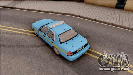 Ford Crown Victoria 2010 Iowa DOT MVE pour GTA San Andreas vue arrière