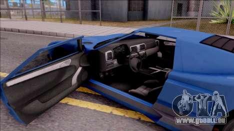 Vapid Bullet pour GTA San Andreas vue intérieure