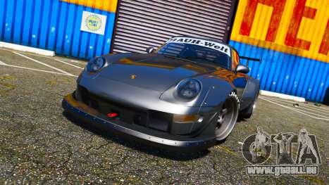 GTA 5 Porsche 911 (993) GT-2 1992 RWB hinten links Seitenansicht