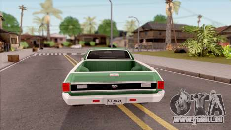 Chevrolet El Camino SS 1970 für GTA San Andreas zurück linke Ansicht