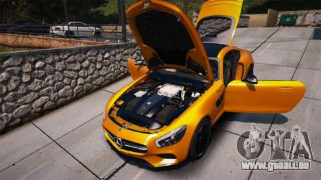 GTA 5 Mercedes-Benz AMG GT S 2016 vue arrière