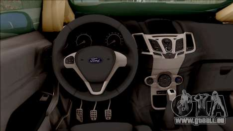 Ford Fiesta ST High Poly pour GTA San Andreas vue intérieure