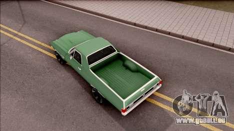 Chevrolet El Camino SS 1970 für GTA San Andreas Rückansicht