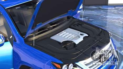 GTA 5 Lexus LX570 2014 arrière droit vue de côté