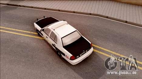 Ford Crown Victoria 2007 West Des Moines PD pour GTA San Andreas vue arrière