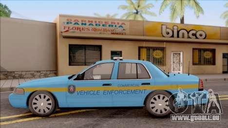 Ford Crown Victoria 2010 Iowa DOT MVE pour GTA San Andreas laissé vue