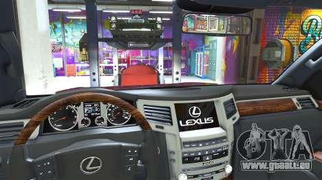 GTA 5 Lexus LX570 2014 droite vue latérale