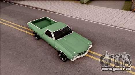 Chevrolet El Camino SS 1970 für GTA San Andreas rechten Ansicht