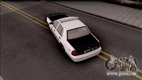 Ford Crown Victoria 2009 Des Moines PD pour GTA San Andreas vue arrière