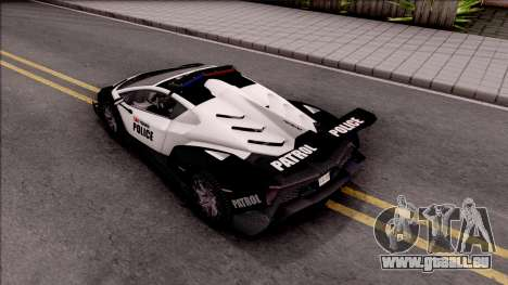 Lamborghini Veneno Police San Fierro für GTA San Andreas Rückansicht