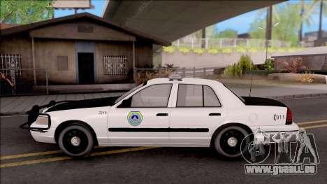 Ford Crown Victoria 2009 Des Moines PD pour GTA San Andreas laissé vue