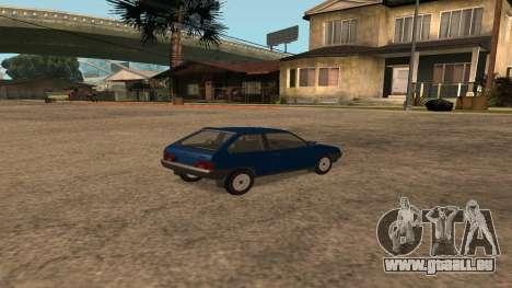 VAZ-2108 sur la radio pour GTA San Andreas sur la vue arrière gauche