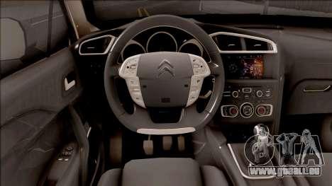 Citroen C4 2012 pour GTA San Andreas vue intérieure