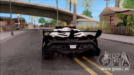 Lamborghini Veneno Police San Fierro für GTA San Andreas zurück linke Ansicht