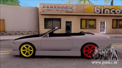 Nissan Skyline R32 Cabrio Drift Monster Energy für GTA San Andreas linke Ansicht