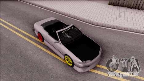 Nissan Skyline R32 Cabrio Drift Monster Energy für GTA San Andreas rechten Ansicht