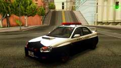 Subaru Impreza WRX STi 2004 Japanese Police für GTA San Andreas