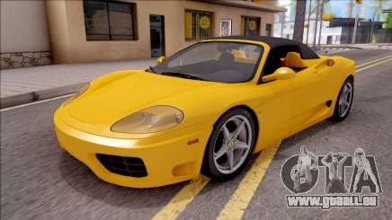 Ferrari 360 Spider US-Spec 2000 HQLM pour GTA San Andreas