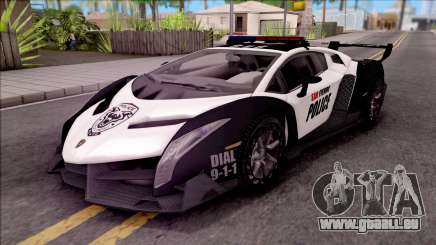Lamborghini Veneno Police San Fierro für GTA San Andreas