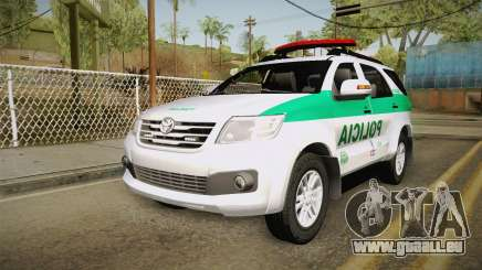 Toyota Fortuner Ponal Colombia für GTA San Andreas