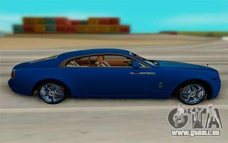 Rolls Royce Wraith für GTA San Andreas linke Ansicht