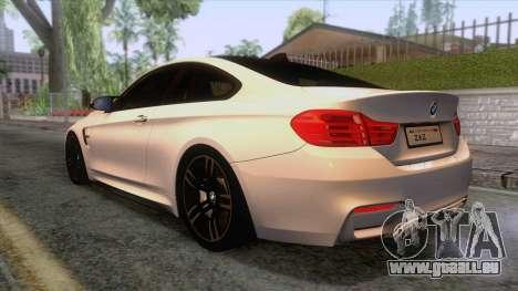 BMW M4 GTS High Quality pour GTA San Andreas laissé vue