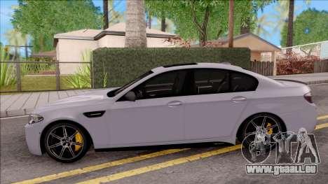 BMW M5 F10 M Performance pour GTA San Andreas laissé vue