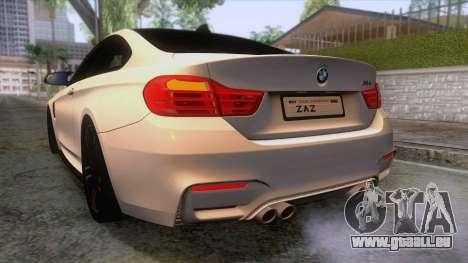 BMW M4 GTS High Quality pour GTA San Andreas salon